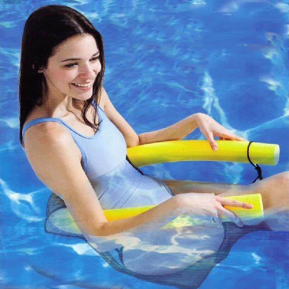 Hot sale bright noodle pool floating chair swimming pool seats pool amazing floating bed chair for Swimming pool noodle fun chair