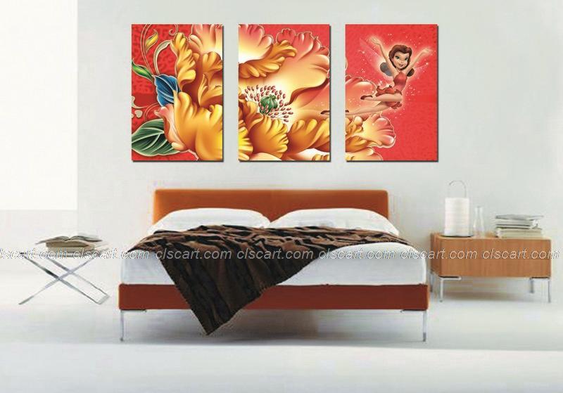 Online kopen wholesale olieverfschilderij rood haar uit china olieverfschilderij rood haar - Schilderij slaapkamer meisje ...