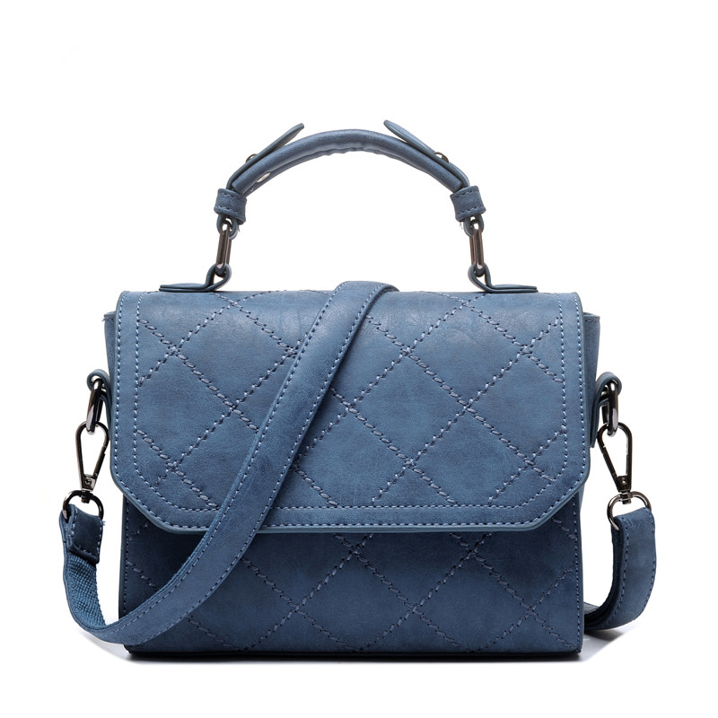 Nubuck Leather Designer Handbags High Quality Blue Women Shoulder Bags Plaid Flap Ladies Crossbody Bag by 5 Colors<br><br>Aliexpress