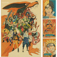 Buy Vintage Retro anime poster anime Posters Uzumaki Naruto Poster Luffy wanted One Piece Bar Cafe Home Decor Wall Sticker for $1.42 in AliExpress store