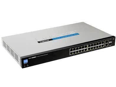 Linksys slm224p 24 smart sfp gigabit poe switch