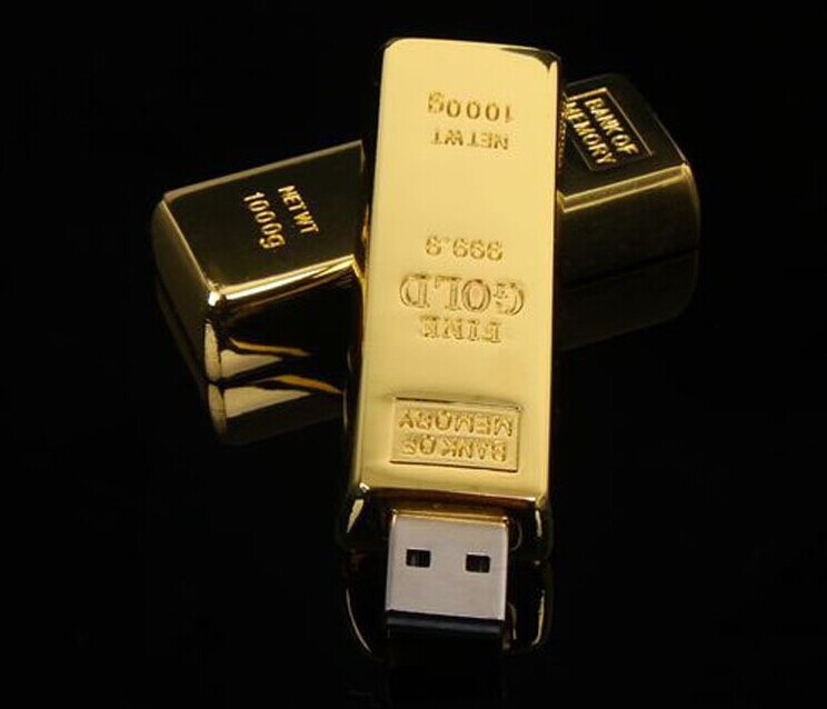 usb flash drive Newest design golden model pen drive 64G/32G/16G/8G/4G pendrive usb stick novelty usb2.0 Real new Free Shipping(China (Mainland))