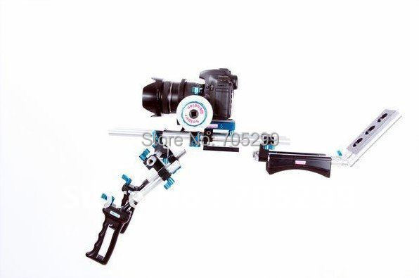 Wondlan Sniper 2.0 DSLR shoulder rig Movie kit Follow focus Front handle for 5D mark II/7D / GH1 Free shipping(China (Mainland))