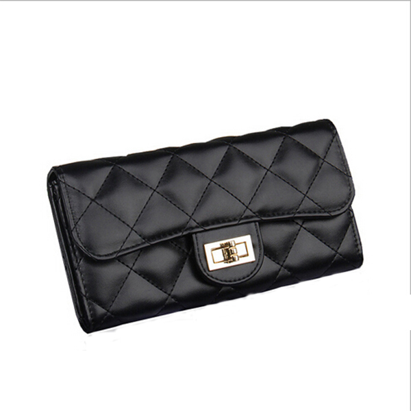 Brand Fashion Long Women Plaid Wallets High Capacity Hasp Cellphone Pocket Female Clutch Portefeuille Femme Women Purse Wallet(China (Mainland))