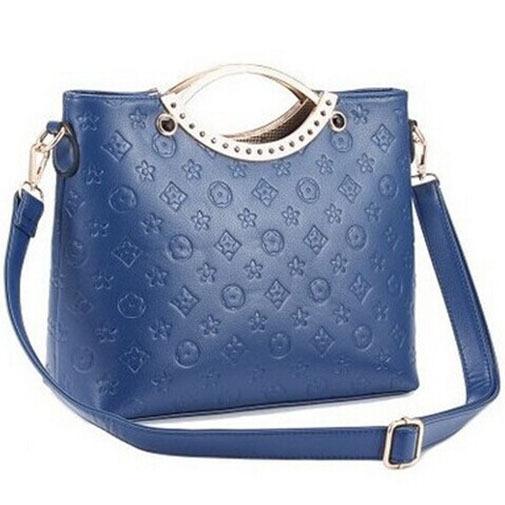 New 2015 Fashion Ladies Frame Women Handbags Embossed Solid Shoulder Bags High Quality Women Messenger Bags Designer Women Bags(China (Mainland))
