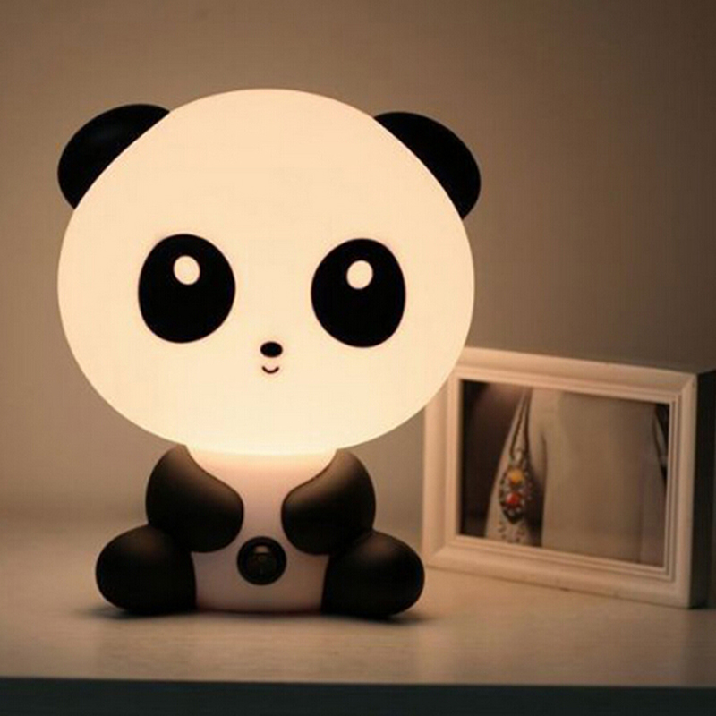 New Arrival Cute Cartoon Panda/ Rabbit/Dog/Cat Lamp Sleeping Night Light For Baby Room, Children'S Bedroom Bedside Lamp(China (Mainland))