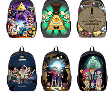 16Inch Kids Backpack Gravity Falls School Bags Mochila 3D Cartoon Children School Bags For Girls Boys Teenager(China (Mainland))