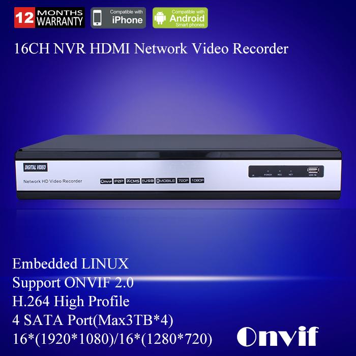 Anran 1080P AR-NVR6016F-PL 16CH NVR HD Digital Network Video Recorder HDMI VGA 720P/1080P Support ONVIF