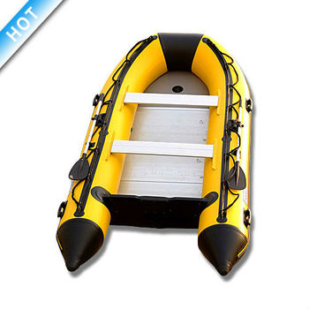 """14'1"""" Rock Inflatable Boat 2000 Denier (1.2mm) PVC  with Aluminum Floor boat for fishing"""