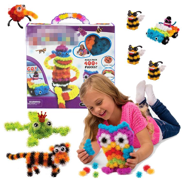 400pcs Kids Build Mega Pack Models & Building Toy Intelligent & Educational Animals Stickers Blocks Sets Baby Models Toy #F(China (Mainland))
