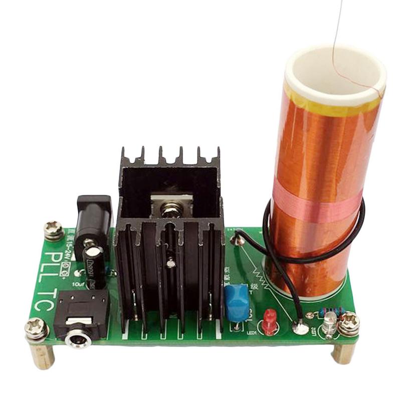 Kits 15W Tesla Mini Coil Plasma Speaker DC 15-24V Wireless Transmitter Generator -Y103(China (Mainland))