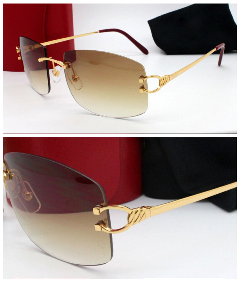 New 2016 Brand Sunglasses Unisex Sunglasses for Men 3899175 Women Metal Rimless Sunglasses Free Shipping with Reatail PackageОдежда и ак�е��уары<br><br><br>Aliexpress