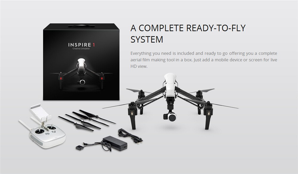 Original DJI Inspire 1 V2.0   Quadcopter With 4K Camera and one transmitter RTF