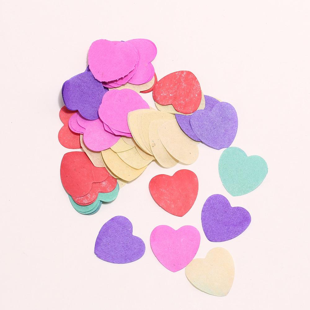 6000 Biodegradable Cofitte Rainbow Love Heart Paper Confetti Wedding Party Confetti Table Decoration Decorative Supplies(China (Mainland))