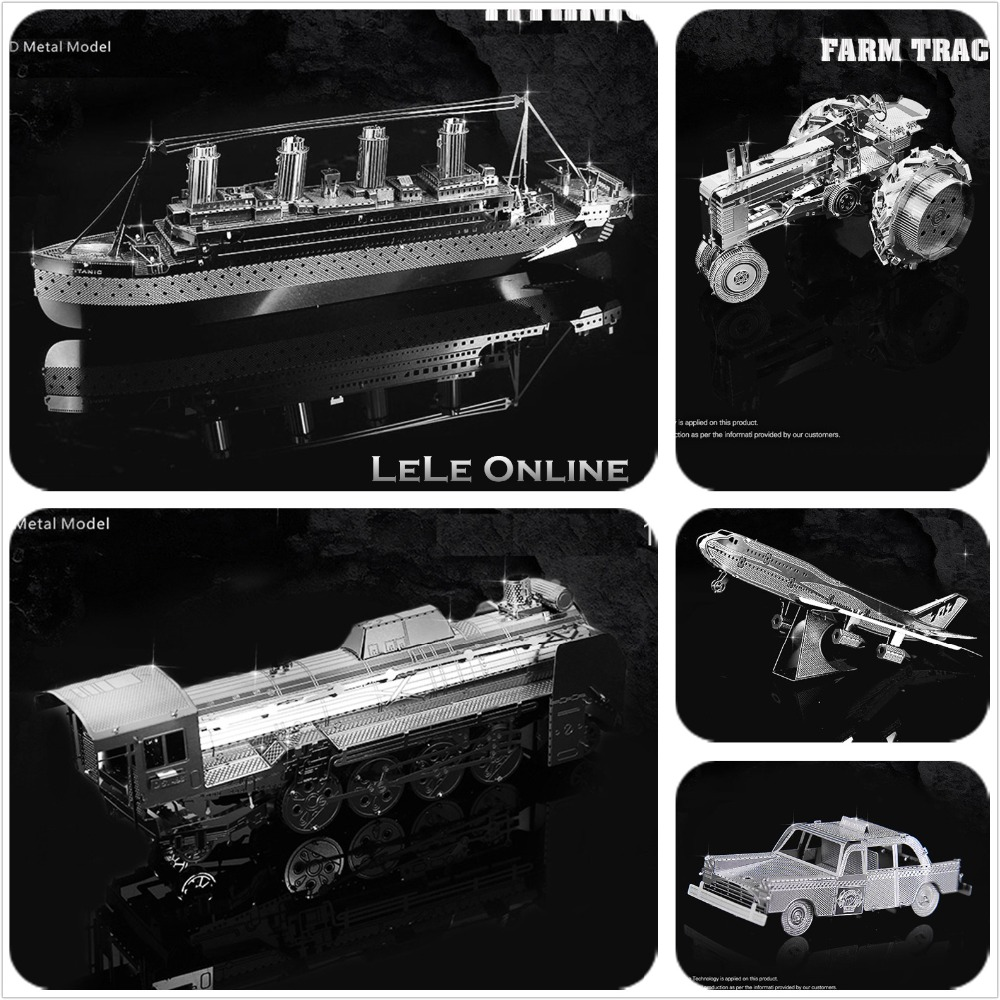 Educational 3D Puzzle Metal Model Military Boeing 747/Fokker/Beth/Piano/Originality DIY Children Kids Gift DIY Toy(China (Mainland))