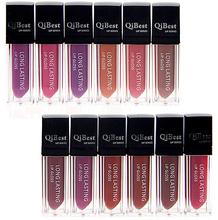 12 color lipgloss Waterproof Beauty Makeup LipStick Velvet matte Colors Lip Pencil Lipstick Lip Gloss makeup  M01296(China (Mainland))
