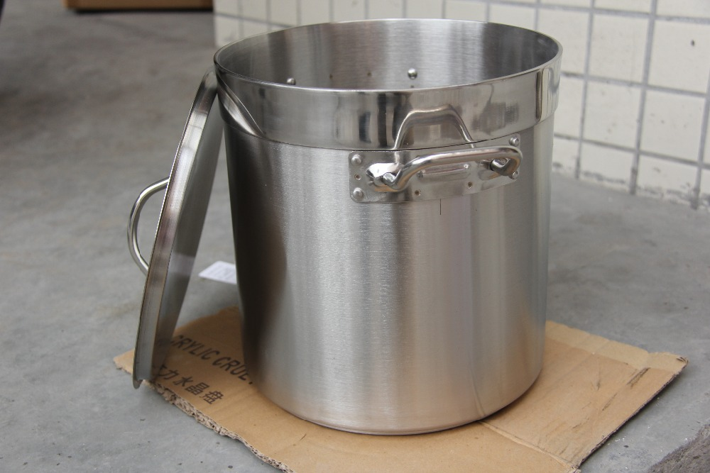 0 good quality 30cm diameter 21 Liters soup pot stock pot stainless steel pot soup barrel with multi-ply bottom(China (Mainland))