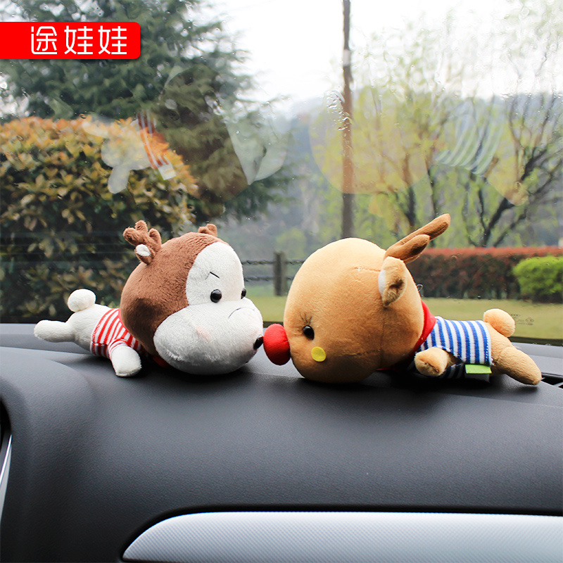 carbon bag cartoon car in addition to formaldehyde odor removal vehicle carbon velvet decoration a couple of small toys(China (Mainland))