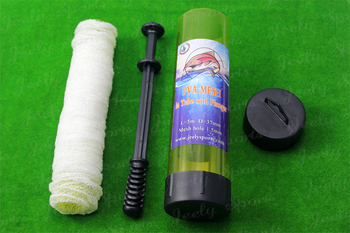 Free shipping Slow Solution 37MM 5M PVA Carp Fishing Mesh Refill In Tube With Plunger