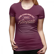 נמוך פחמימות חולצה קטוגנית דיאטה דלת פחמימות גבוהה שומן T חולצה רחוב ללבוש Oversize נשים חולצת טי חדש אופנה כסף גבירותיי טי חולצה(China)