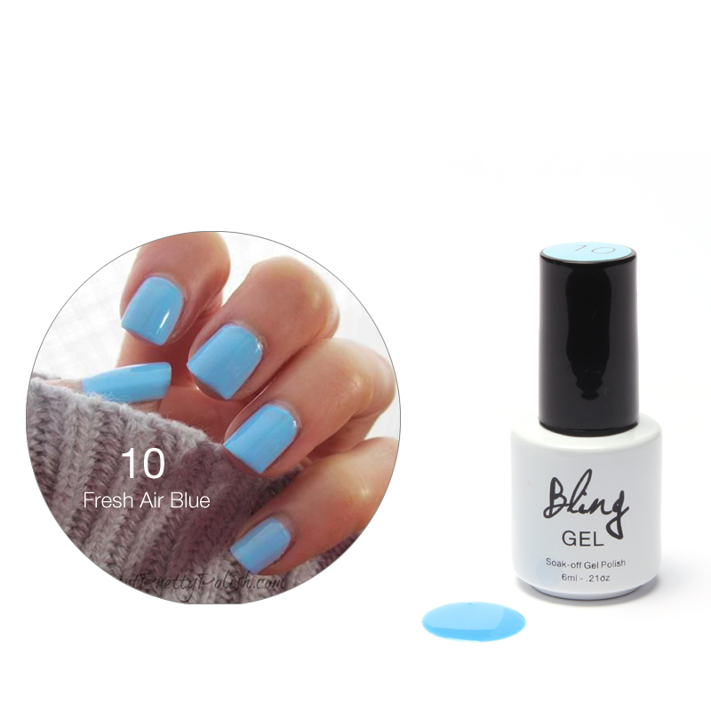 80 Colors Nail Gel Polish Gel Len Long-lasting Soak-off Gel Nail LED UV 6ml 1Pcs Fresh Air Blue Nail Gel(China (Mainland))