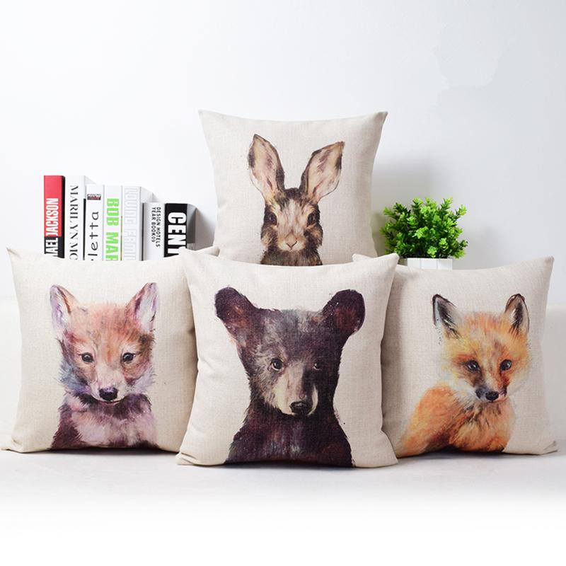 3d aniaml cushion cover bear duck cushion fox rabbit throw - Housse de coussin 60x40 ...