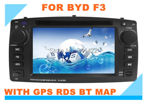 Factory price! Dvd player for BYD F3 with GPS RDS PIP Radio TV steering wheel control Multi-language ce 6.0 free map(China (Mainland))