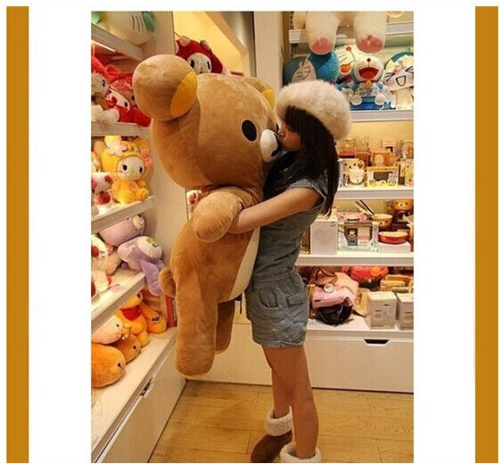 huge 110cm Rilakkuma bear plush toy doll throw pillow gift w4617(China (Mainland))