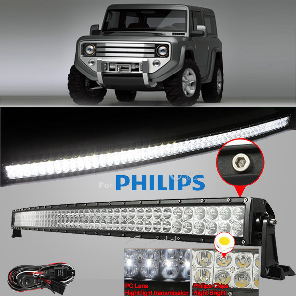 Система освещения Led offroad light bar 50/288w Offroad 12V/24V Philips ATV 4 X 4 SUV амортизаторы bilstein в6 offroad