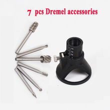 New High Quality DREMEL MultiPro Drill's Special seat Dedicated Locator Horn Fixed Base 6pcs HSS Wood Milling Burrs Cutter Set