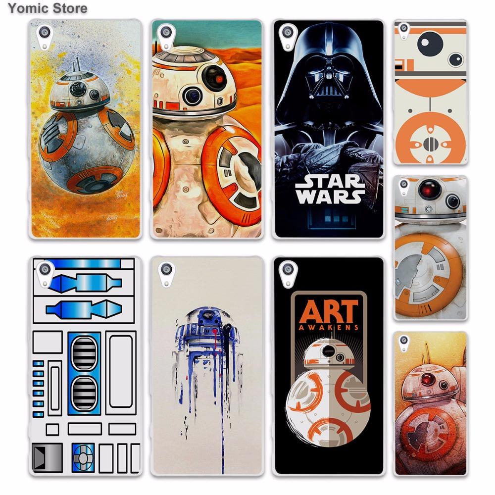 Darth Vader Star Wars Bb-8 Duvet, 1 skin hard White phone case cover Sony Xperia z5 z4 z3 z2 z1 M5 M4 Aqua XA