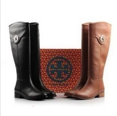 2013 new winter flat round head tall canister boots female Martin - April liang's store