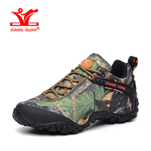 XIANGGUAN New Woman Hiking Shoes Women Waterproof Trekking Boots Green Zapatillas Sports Climbing Shoe Outdoor Walking Sneakers