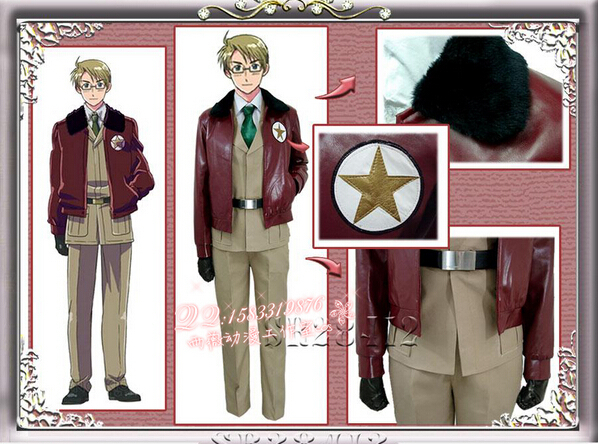 New 2015  APH Axis Powers Hetalia Female US USA America Cosplay Costume custom any size Free shippingОдежда и ак�е��уары<br><br><br>Aliexpress