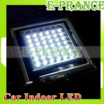 133 x 133MM High Power Car Indoor 42 LED 3 Sections Switch Lamp Light with DC 12V reading  light  interrior light