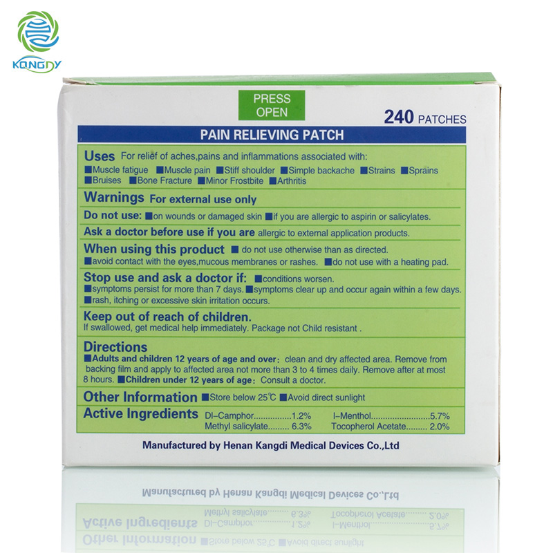 HTB1xbf1QpXXXXb5aXXXq6xXFXXXC - KONGDY Health Care Pain Killer 240 Pieces/Box Menthol Pain Relief Patch Medical Back/Neck Pain Plaster for Body Massager Relax