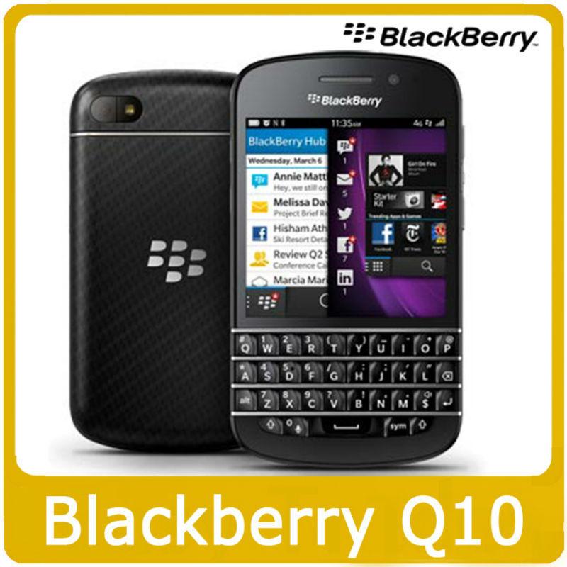 Unlocked Blackberry Q10 Original mobile phone 2GB RAM 16GB ROM Dual core 1.5 GHz 8MP Camera GPS WiFi Bluetooth 4G LTE Q10 Phone(China (Mainland))