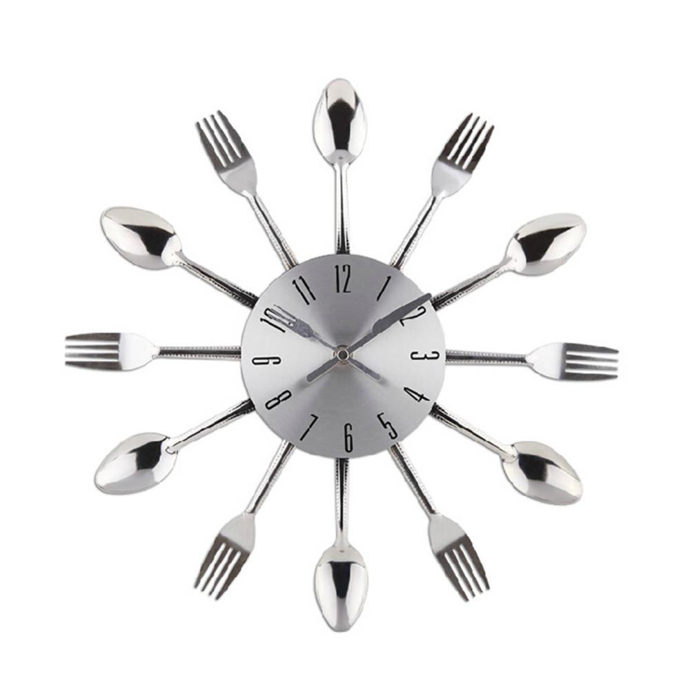 Orologio da parete con posate for Utensili da cucina design
