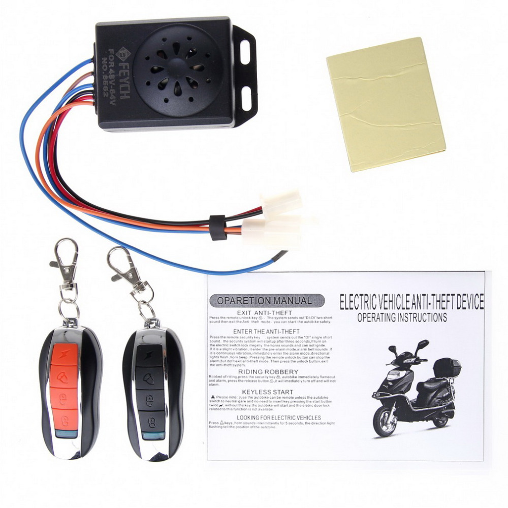 New Motorcycle Bike Anti-theft Security Alarm System Remote Control Engine Start Waterproof(China (Mainland))