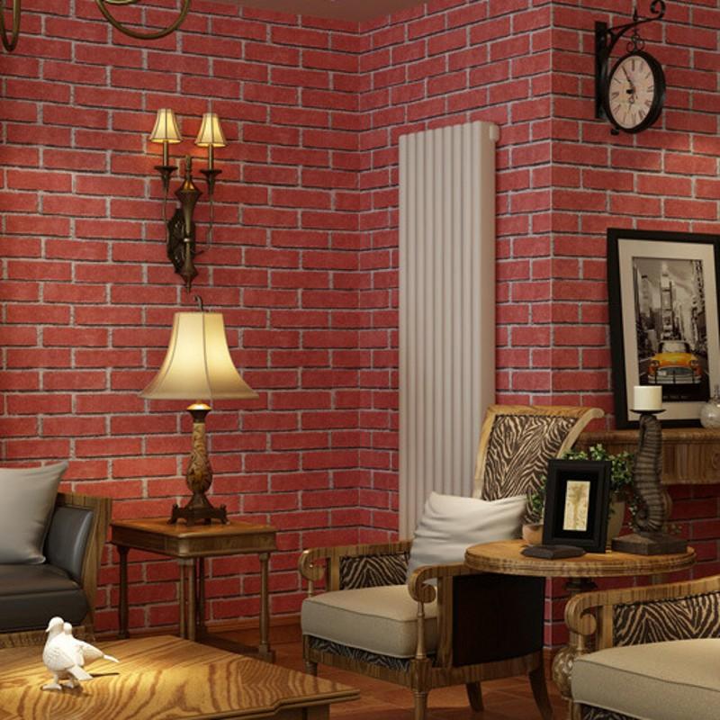 Baksteen patroon behang koop goedkope baksteen patroon behang loten van chinese baksteen patroon - Behang voor restaurant ...