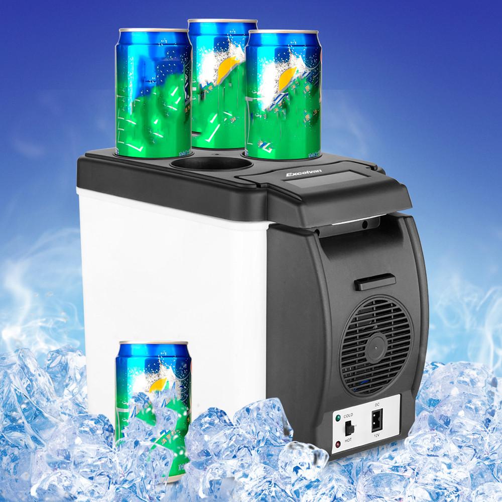 1PC 12V 6L Car Mini Fridge Portable Thermoelectric Cooler Warmer Travel Refrigerator(China (Mainland))