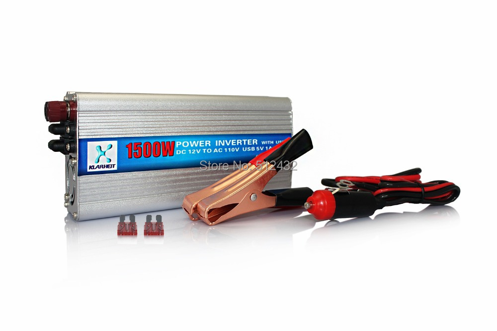 1500W Car Power Inverter Auto DC 12V To AC 110V Adapter Voltage USB charger laptop iphone ipod(China (Mainland))