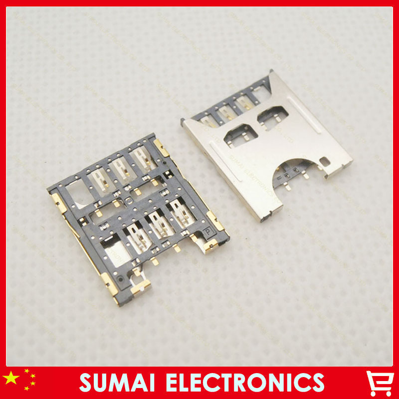 100pcs/lot Sim Card Reader Holder Slot For Gionee V188 V188S etc