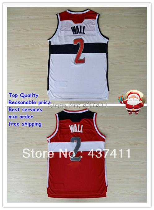 Гаджет  New Material jersey Washington #2 John Wall white red  Rev 30 Embroidery Lgos Basketball jersey Free Shipping None Спорт и развлечения