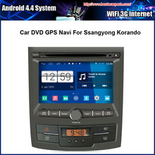 Android 4.4.4 1024*600 Capacitive Screen 1.6G CPU Quad Core Car DVD GPS For Ssangyong Korando