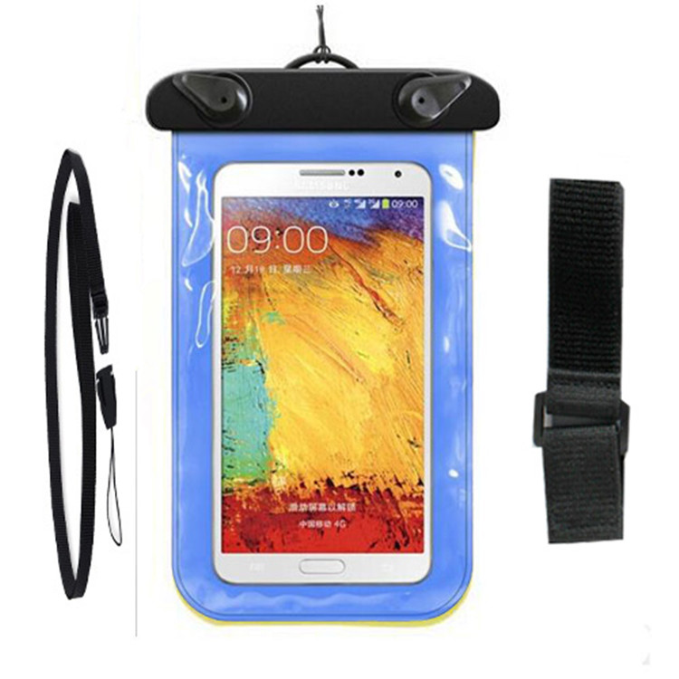 Multicolor New Universal Travel Swimming Waterproof Bag Case Cover For Apple iPhone 6 Plus 6S Plus Under 6.0 inch Cell Phone