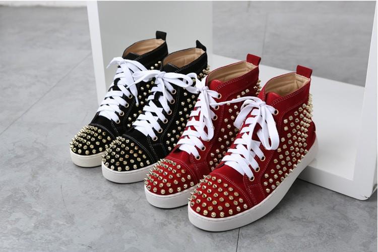 2016 New Fashion Red Bottom women Casual Shoes, Luxury Brand women Shoes, Rivet Shoes women, High Qulaity Women Leisure shoes