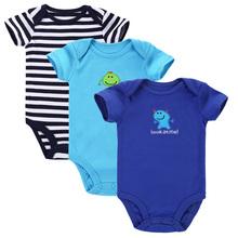 3шт / много 2 015 мальчиков Одежда для девочек Следующая Симпатичные новорожденных Одежда для животных 100% хлопок новорожденных Baby Rompers комплект одежды младенца