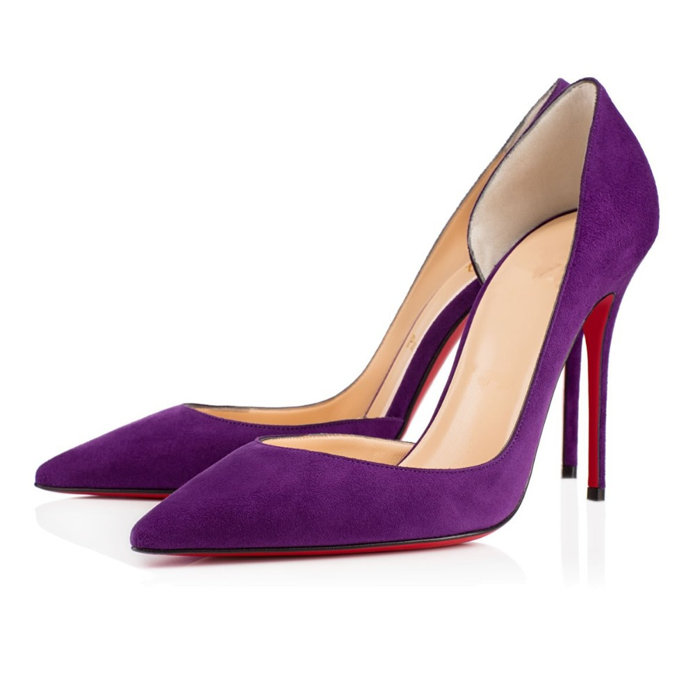Womens Purple Shoes Heels - Is Heel
