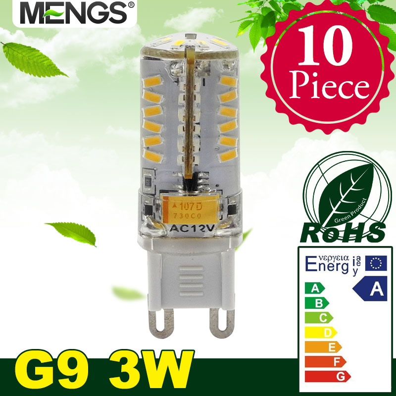 MENGS 10Pcs per pack G9 3W LED Corn Light 58x 3014 SMD LEDs LED Bulb AC 220-240V Energy-saving Lamp In Warm White/ Cool White<br><br>Aliexpress